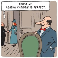 Hercule Poirot in Agatha: The Real Life of Agatha Christie