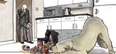 Eric eat's from the bin in Mann's Best Friend by Scarlett & Sophie Rickard