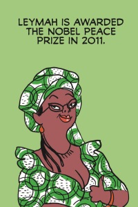 Leymah Gbowee in Pénélope Bagieu's Brazen: The Women Who Rocked the World