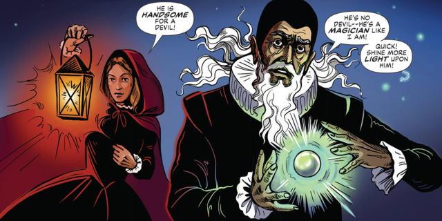 John Dee and daughter in Dark Lines of London