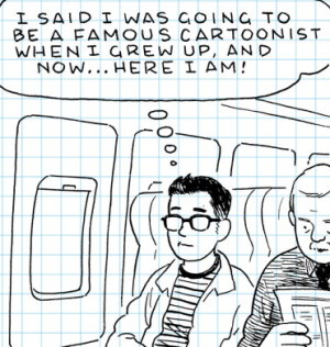 Adrian Tomine in The Loneliness of the Long-Distance Cartoonist