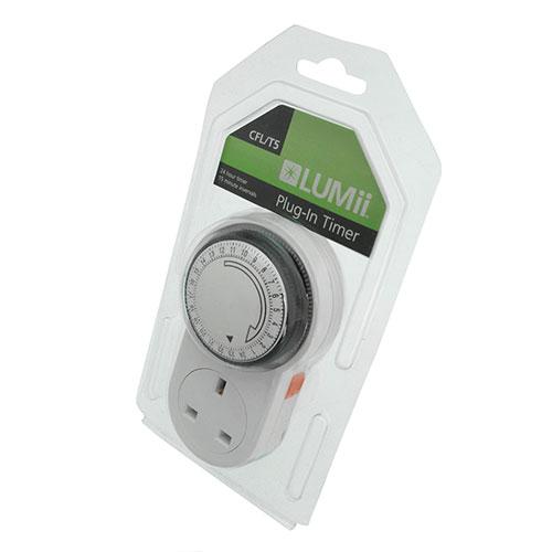 LUMii 24-hour Plug in Manual Timer
