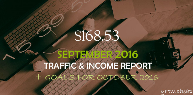 $168.53: GrowCheap September 2016 Income Report