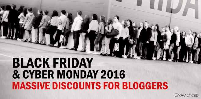 [ Black Friday 2016 ] Massive Discounts For Bloggers