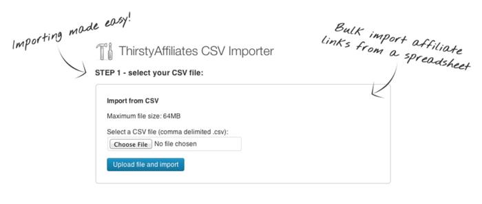 Affiliate-link-CSV-importer