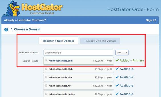 Hostgator-register-domain