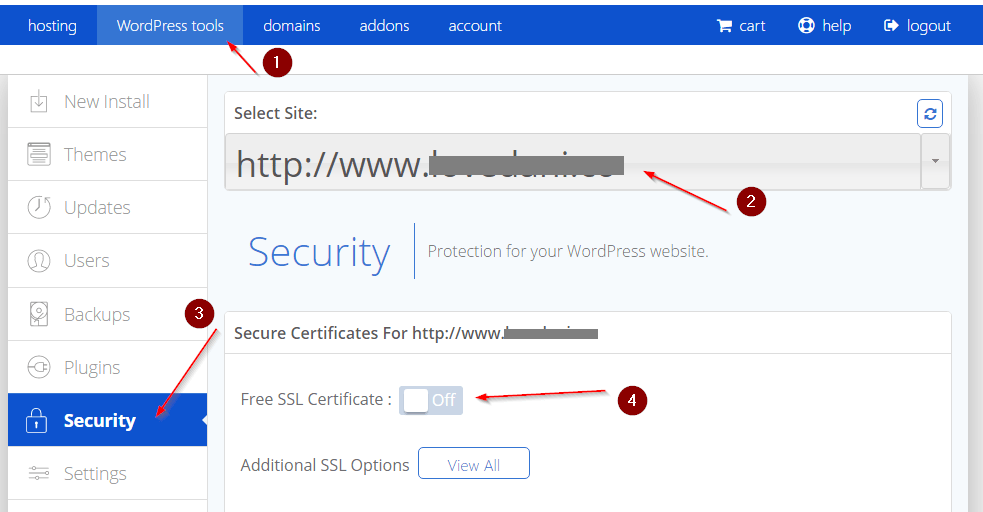 Enable Free SSL Certificate on BlueHost