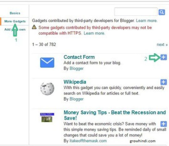 Add Contact Form in Blogger Image