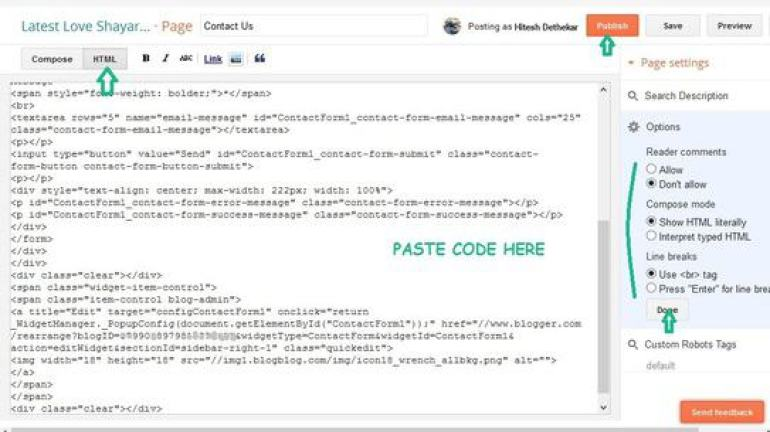 Adding Contact Page Code