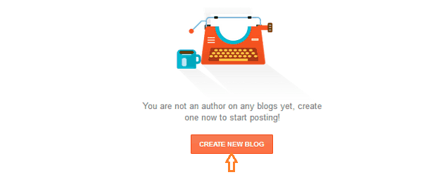Create a new blog on blogger