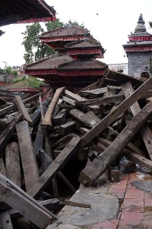 Durbar square - lots of wood to turn back into a temple....