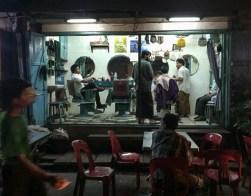 Barber shop on the street