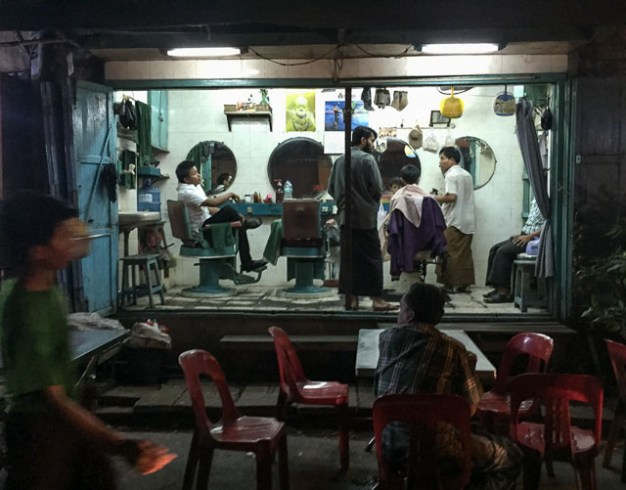 Barber shop on the street