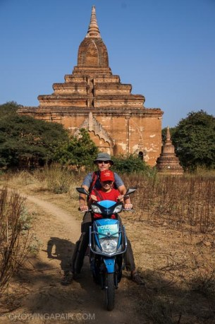 Mopeds in Bagan, Myanmar