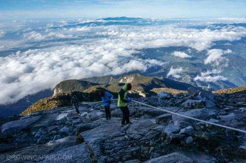 Kids climbing Mount Kinabalu, Borneo, Malaysia