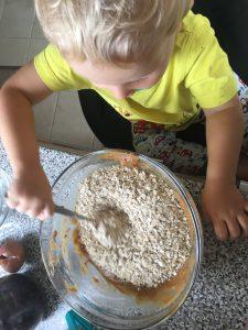 Oats, flour and baking powder