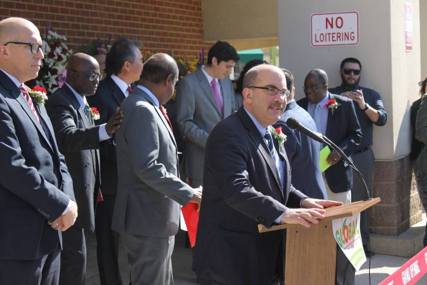 Photo of Councilmember George Leventhal at Global Food Grand Opening