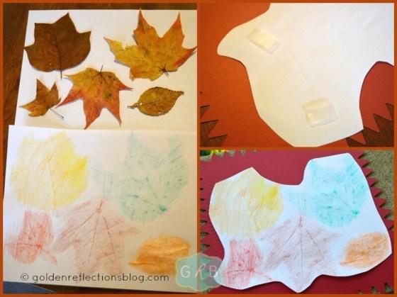 Leaf Rubbing Collage 4