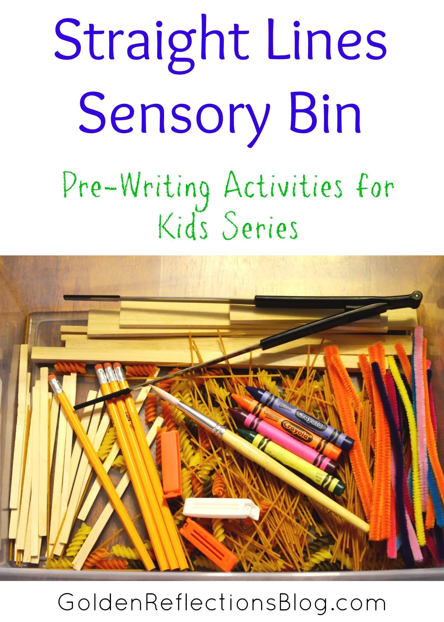 Pre Writing Activities For Kids Straight Lines Sensory