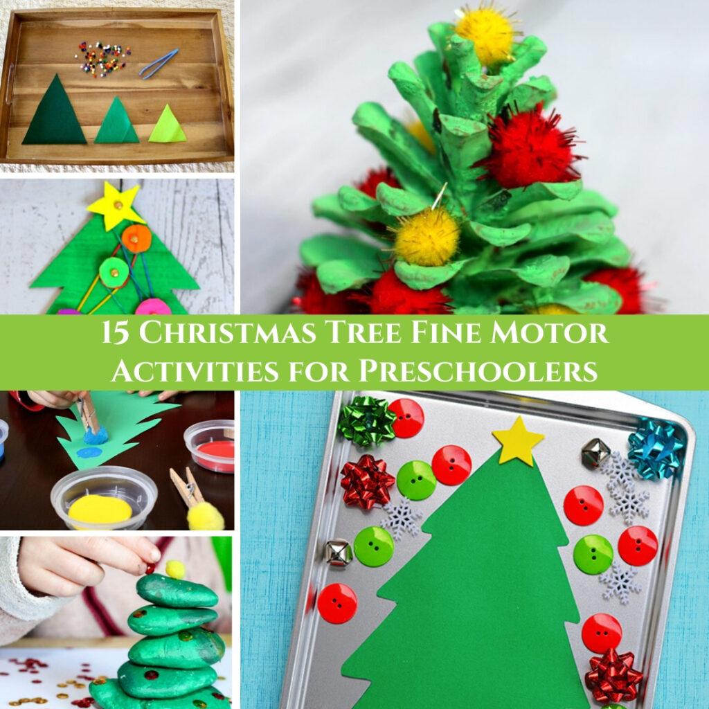 15 Christmas Tree Fine Motor Activities For Preschoolers