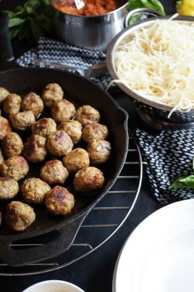 Herb Beef Meatballs | Gluten Free, Low FODMAP | Growing Home