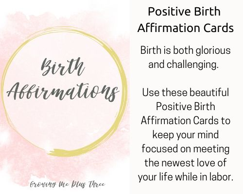 image of birth affirmation cards available in site's shop
