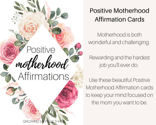 Image of positive motherhood affirmation cards available in the shop
