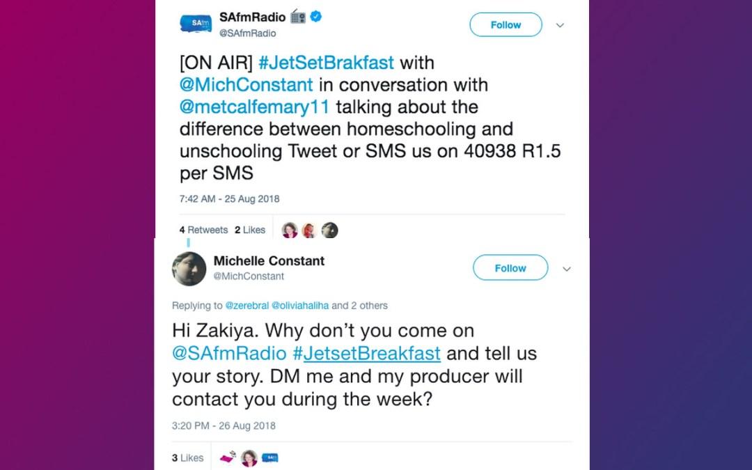 Responding to Mary Metcalfe's radio convo on Unschooling