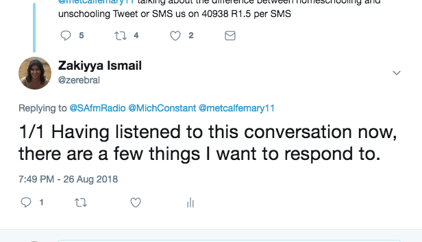 1/1 Having listened to this conversation now, there are a few things I want to respond to.