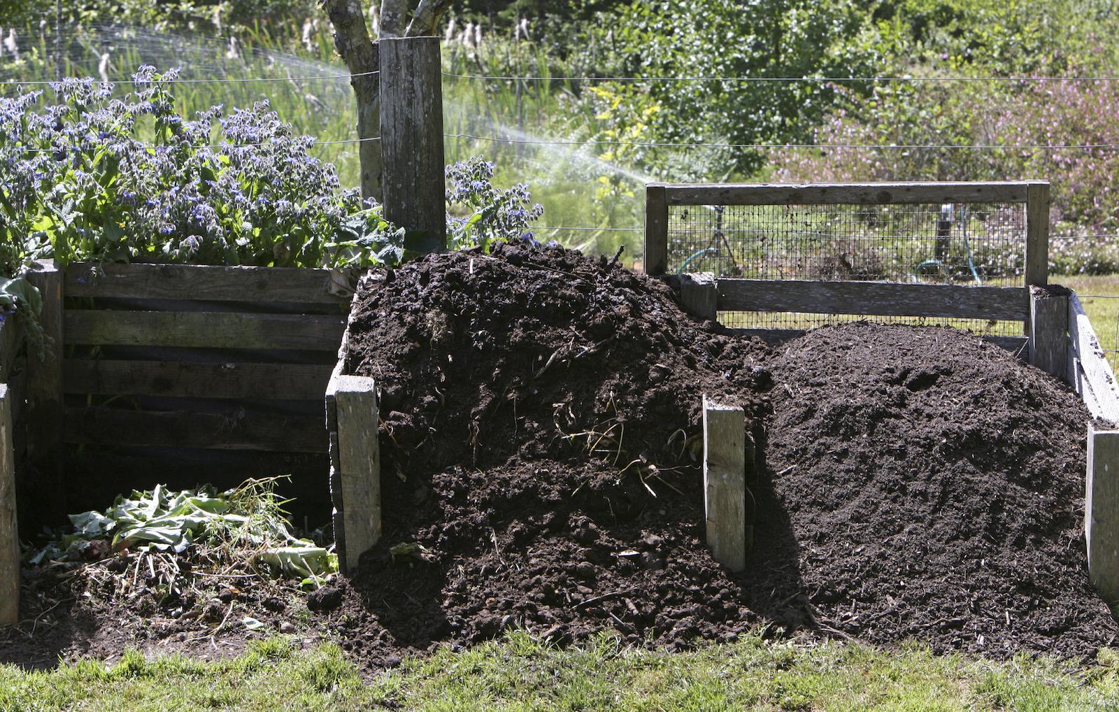 Adding Leaves Garden Soil