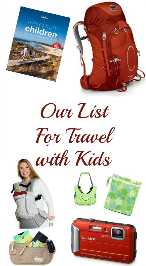 This packing list is what one mom, who is also an experienced traveller, is gathering for backpacking travel with kids.