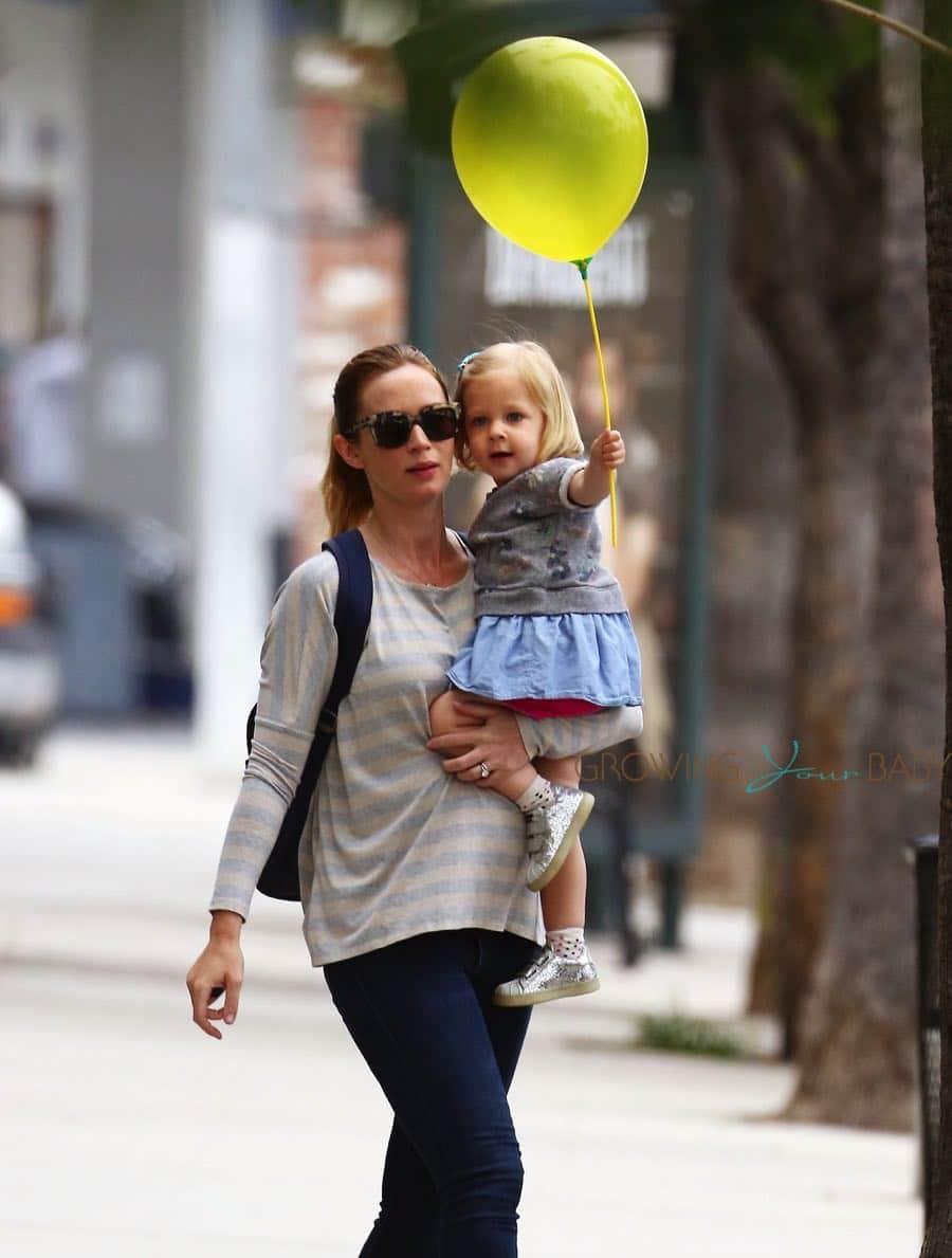 Emily Blunt Runs Errands With Daughter Hazel In LA