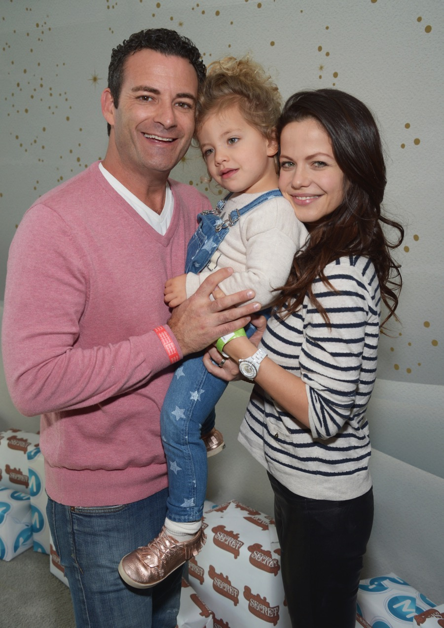 Tammin Sursok And Sean Mcewen With Daughter Phoenix At The