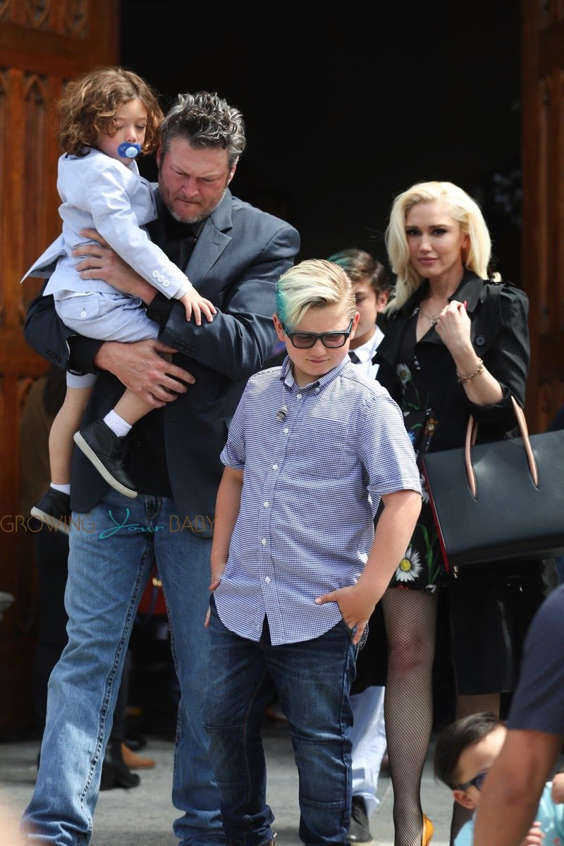 Gwen Stefani And Blake Shelton Leave Church With The