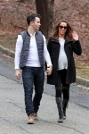 Kevin and a pregnant Danielle Jonas stroll in New Jersey