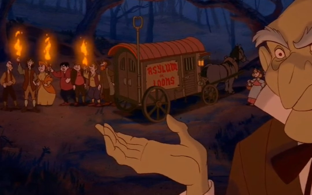 Beauty and the Beast, Minute 67: Catch Poles, Creepy Faces, and Psychiatric Treatments
