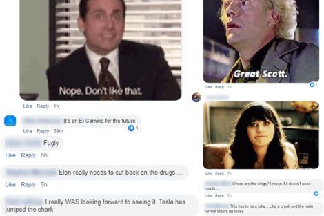 Tesla Cybertruck Responses