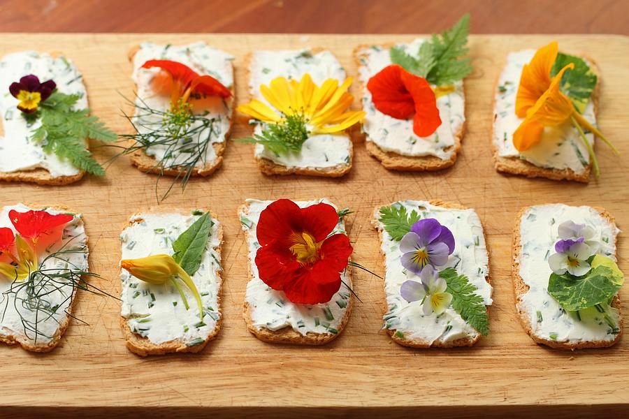 42 0 flower related recipes for a flower related for Canape garnishes