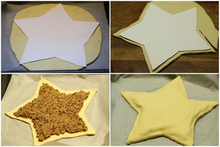 making the filled star bread