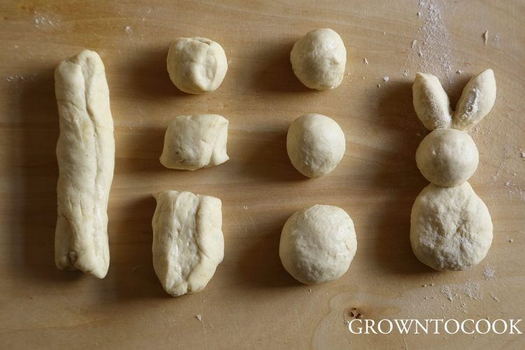 easter bunny rolls tutorial