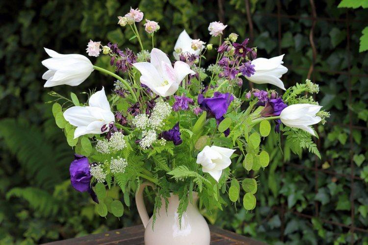 Seasonal bouquet in early May