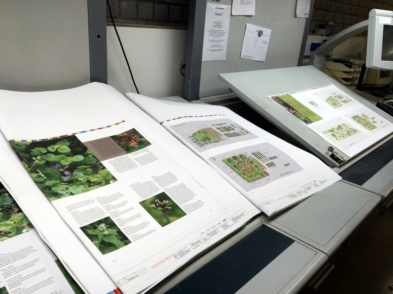 book being printed