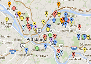Western PA School Garden Map - Grow Pittsburgh