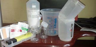 Material para calibragem do medidor de pH