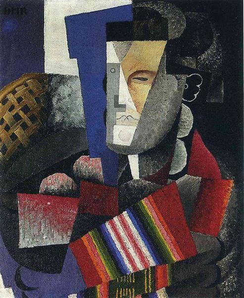 Portrait de Martin Luis Guzman - Diego Rivera, 1915