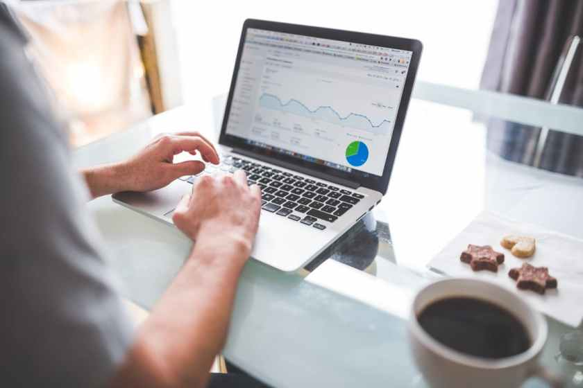 Business Marketing Analytics Laptop