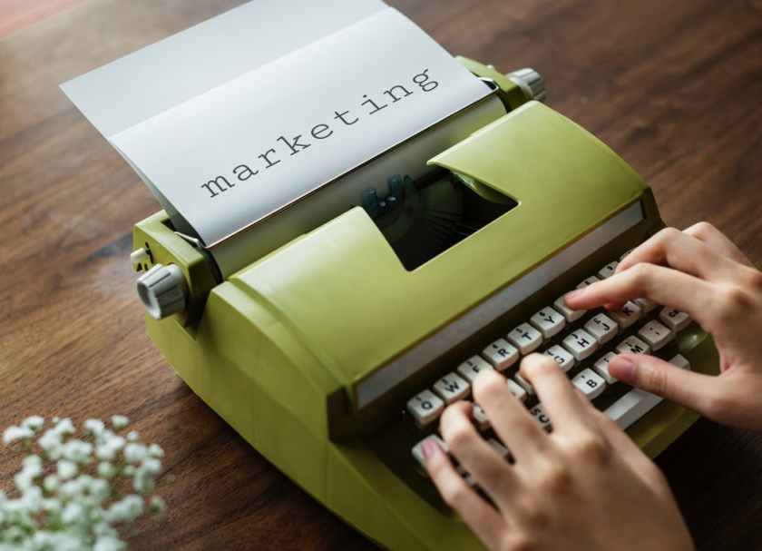 Old Style Marketing Typing Typewriter Copywriting