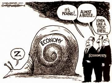 snail economic recovery cartoon