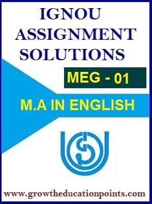 IGNOU MEG-01 BRITISH POETRY Solved Assignment