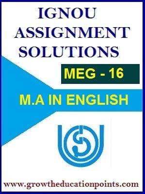 MEG-16 INDIAN FOLK LITERATURE SOLVED ASSIGNMENT